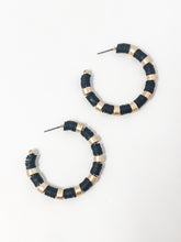 Clay Bead Hoops | Black