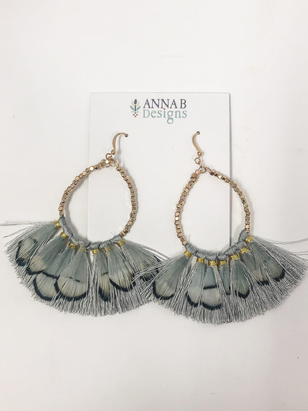 Simmons Feather Earrings | Light Blue