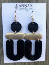Bridget Resin Earrings- Black