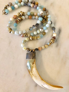 Amazonite Tusk Necklace