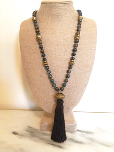 Jasper Tassel Necklace