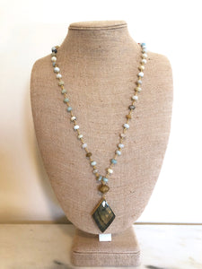 Amazonite Rosary Necklace