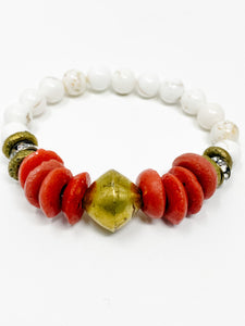 Cam Beaded Bracelet | Red
