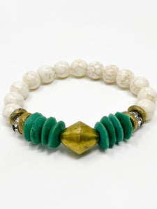 Cam Beaded Bracelet | Emerald Green