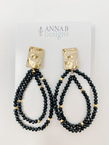 Brooke Beaded Earrings | Black