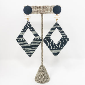 Emily Boho Earrings | Black and White