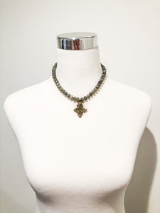 Meredith Brass Pendant Necklace