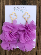 Quatrefoil Petal Earrings-Orchid