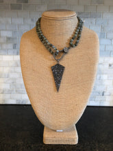 Labradorite Knotted Necklace with Pavé Pendant