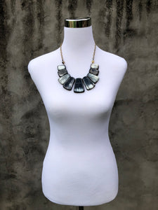 Buffalo Horn Bib Necklace