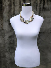 Triple white gemstone necklace
