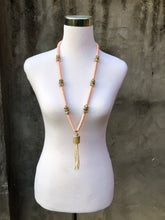 Pink Vinyl Beaded Necklace