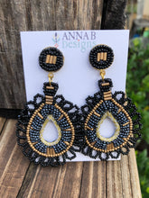 Beaded Rebecca Earrings-Black