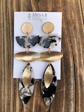 Jolene Resin Earrings-Black