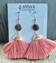 Cassie Tassel Earrings- Pink
