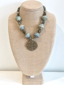 Rolled Paper Bead Necklace
