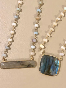 Opal Rosary Necklace