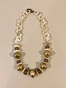 Glass and Horn Necklace