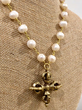 Pearl Necklace with Cross Pendant