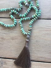 Peruvian Opal Necklace with Silky Tassel