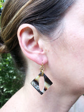 Dustin Horn Earrings-Brown