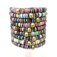 Dark Multicolor Clay bracelets