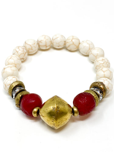 Marlena Beaded Bracelet | Red
