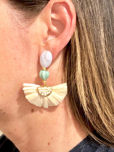 Nanette Flower Earrings- Cream