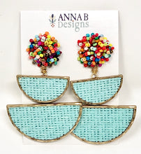 Mia Earrings-Aqua