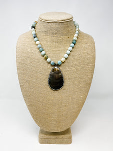 Mother of Pearl Amazonite Necklace