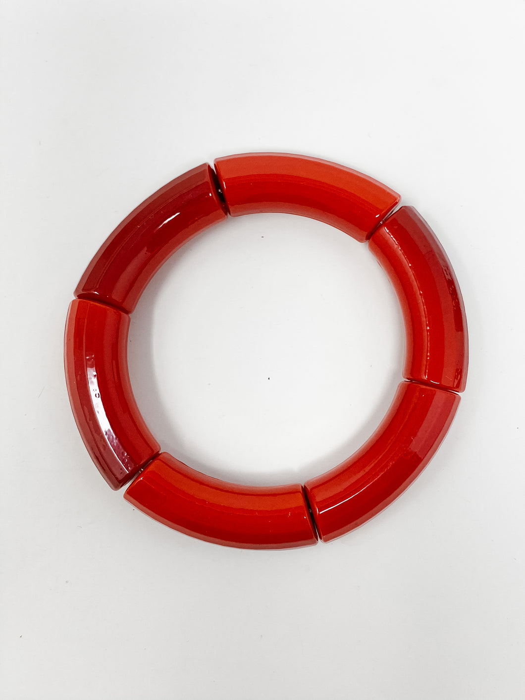 Acrylic Stretch Bracelets | Red