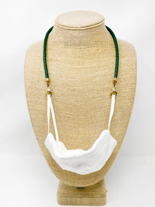 Faux Leather Mask Holder | Green