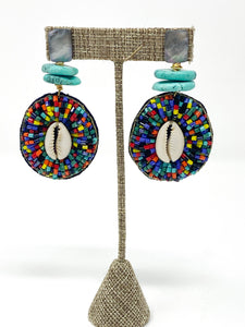 Ingrid Multicolor Beaded Earrings