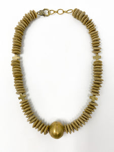 Taber African Glass Necklace | Sand