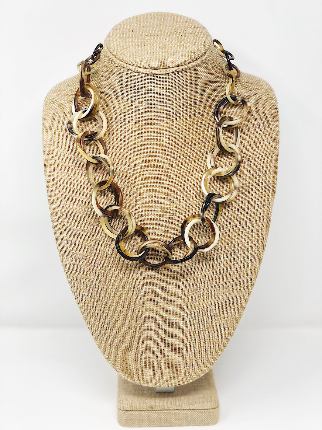 Buffalo Horn Link Necklace