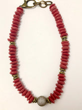 Jasmine African Glass Necklace | Red