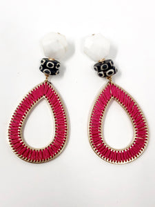 Grace Earrings- Magenta