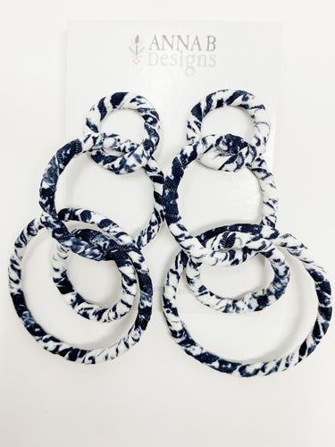 Adriana Fabric Earrings | Black + White