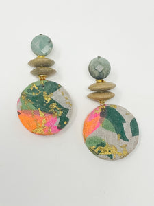 Roo Fabric Earrings | Multi Bright