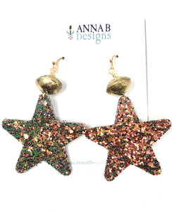 Gia Star Earrings-Rose Gold