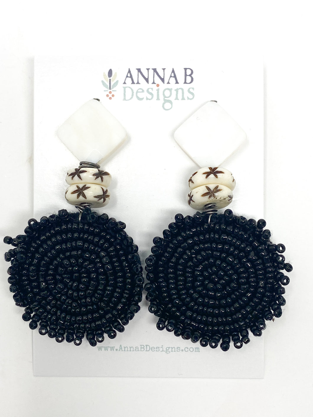 Caley Beaded Earrings | Black