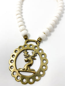 Horsebrass Necklace-Stag