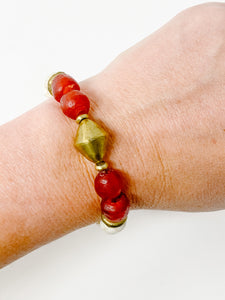 Ginny Beaded Bracelet | Red