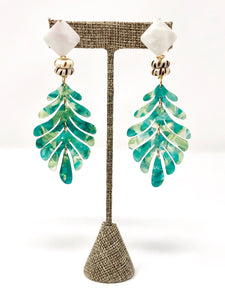 Tamara Acrylic Earrings | Green
