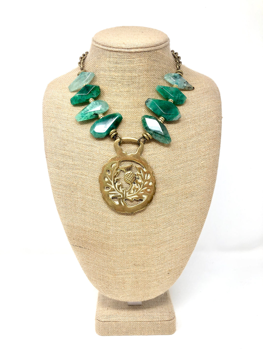 Horsebrass Necklace-Green