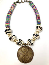 Vinyl Tribal Necklace