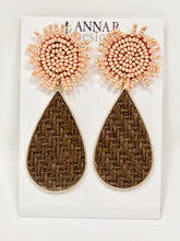 Stephie Beaded Earrings | Blush + Brown