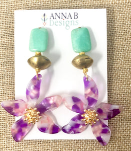 Pua Floral Earrings | Orchid