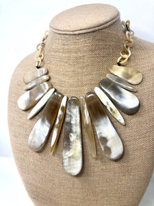Horn Bib Necklace