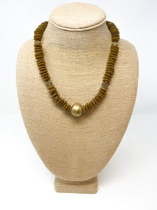 Taber African Glass Necklace | Mocha